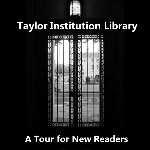 icon for app showing entrance to Taylor Institution Library